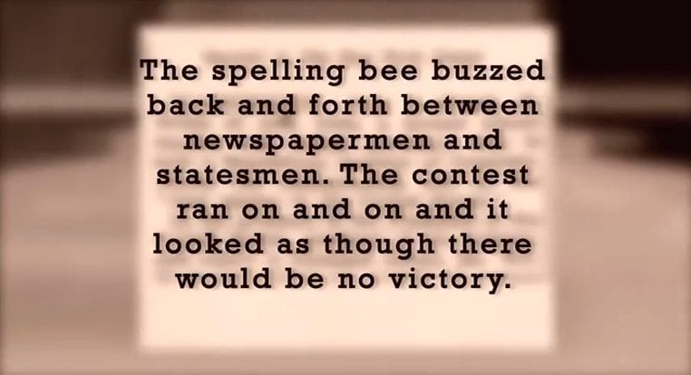 History of the National Press Club Spelling Bee