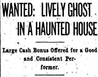 Wanted: Lively Ghost in a Haunted House