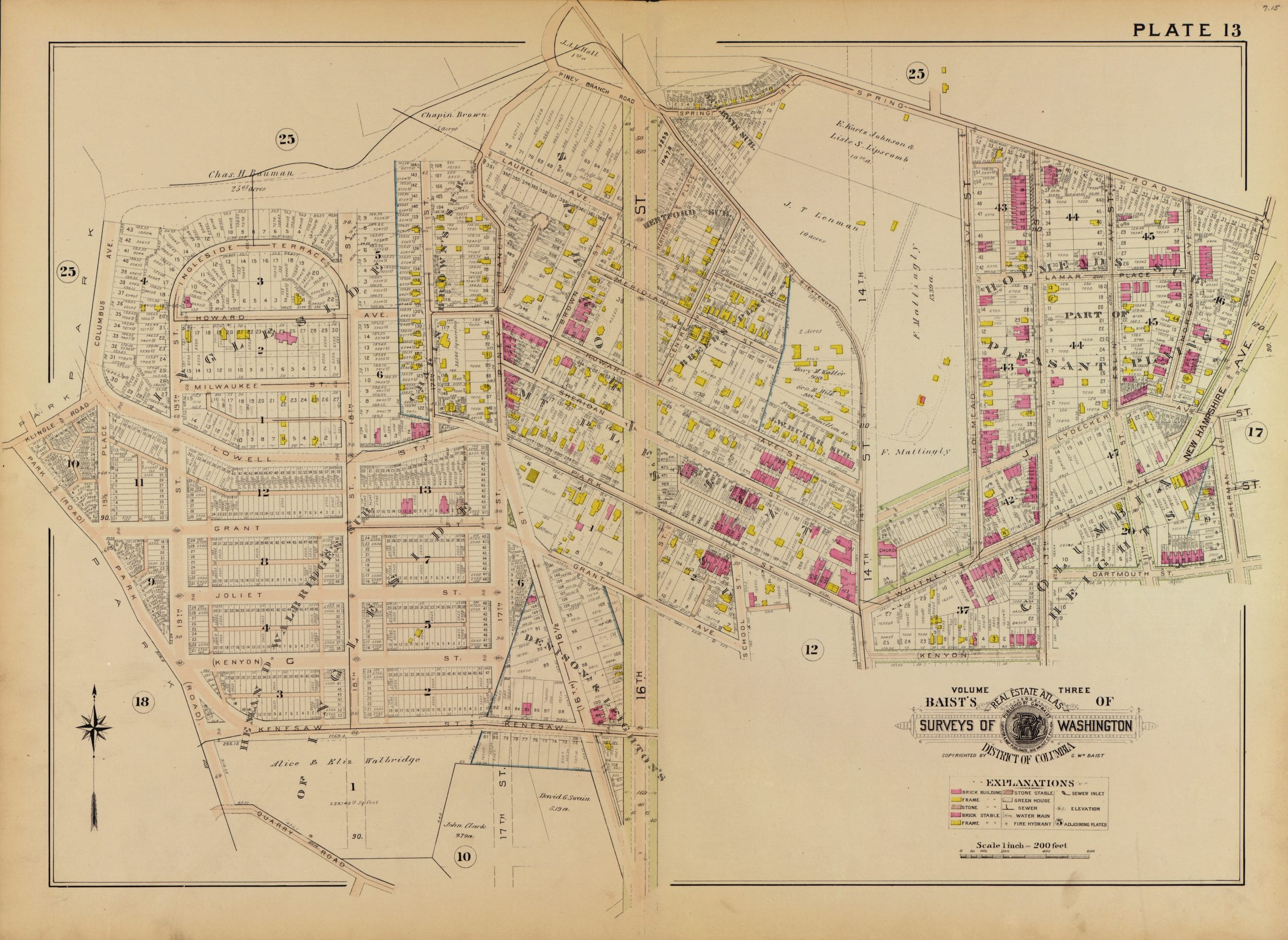 Columbia Heights in 1903