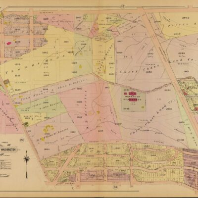 1907 Baist map of North Cleveland Park