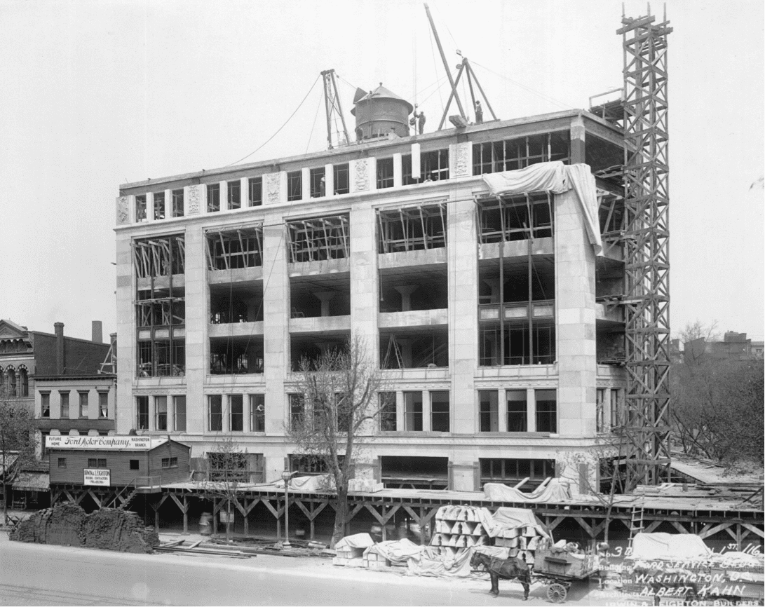 Ford building under construction