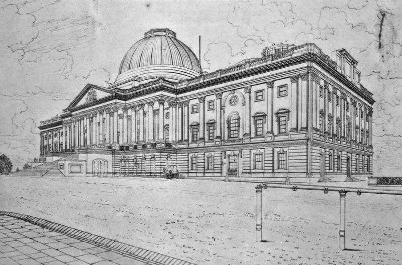 early drawing of the Capitol