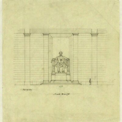 Henry Bacon sketch of the Lincoln Memorial
