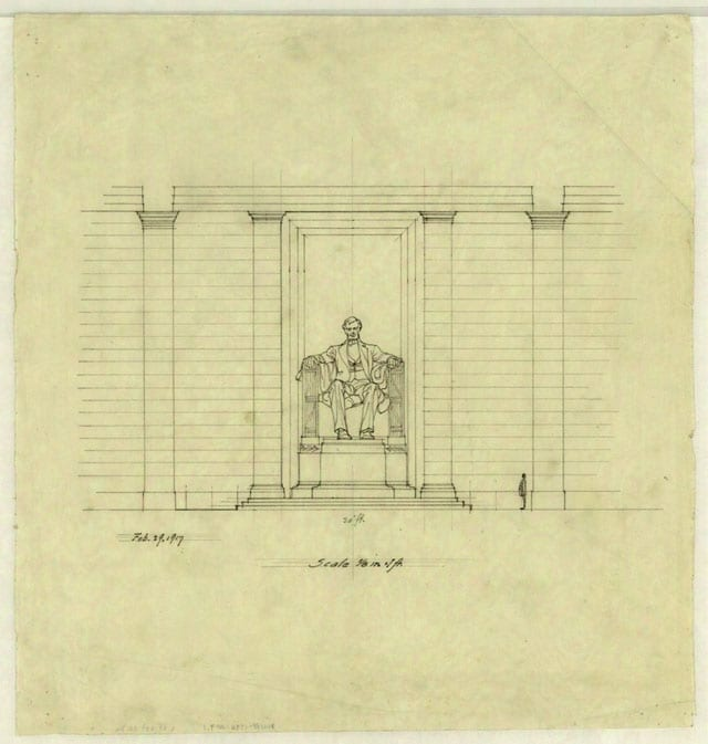 Henry Bacon's Early Drawings of the Lincoln Memorial