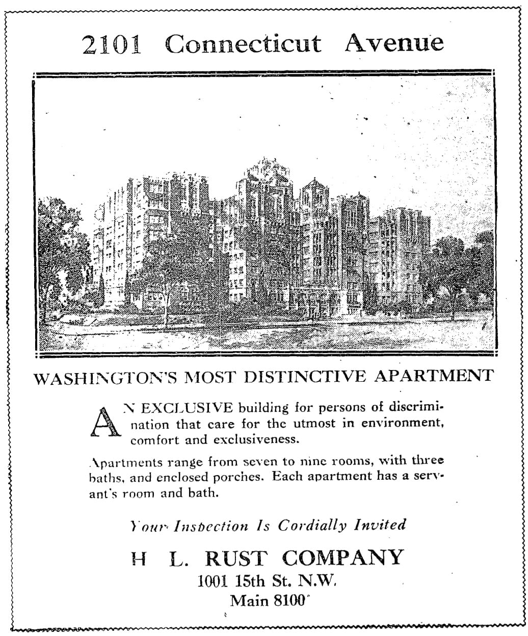 2101 Connecticut Ave. NW advertisement