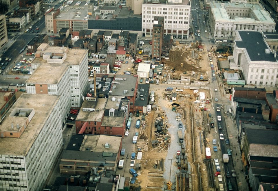 1974 | Looking down at construction of our Gallery Place-Chinatown station