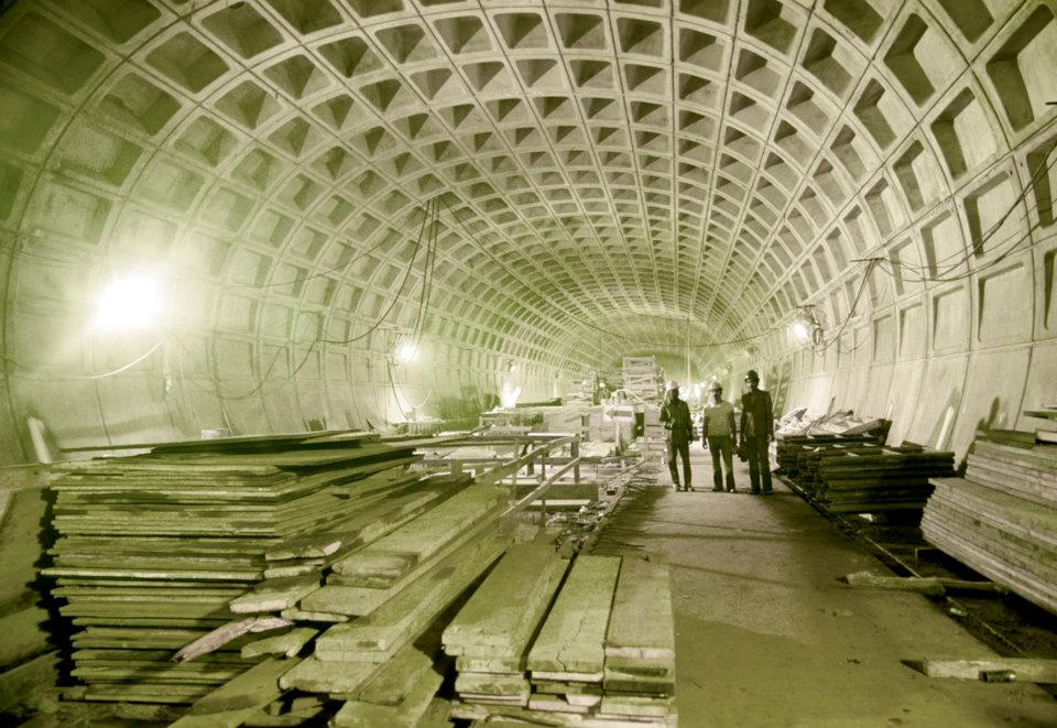 June 1975 | Inside the construction work at Archives Station