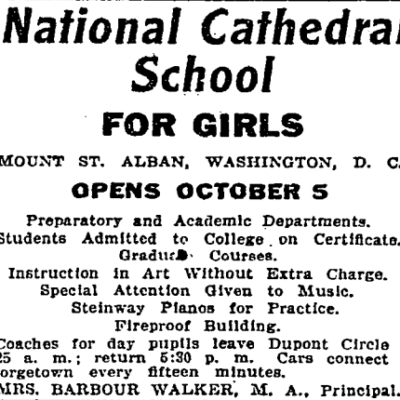National Cathedral School advertisement