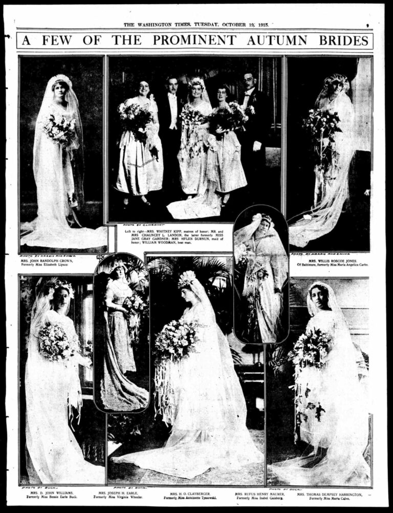 Autumn Brides - October 19th, 1915