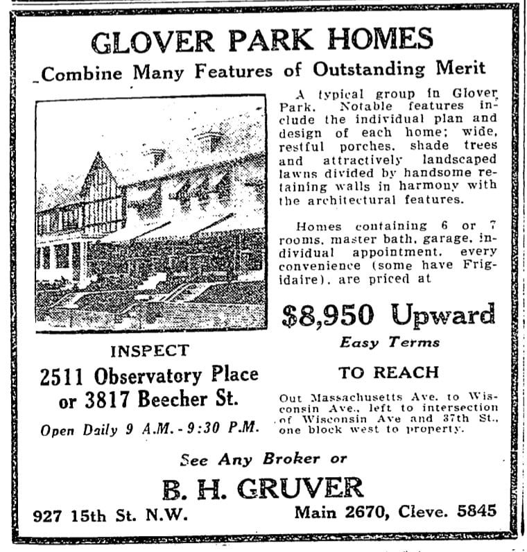 Glover Park advertisement