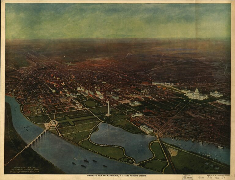 1916 bird's eye view of Washington