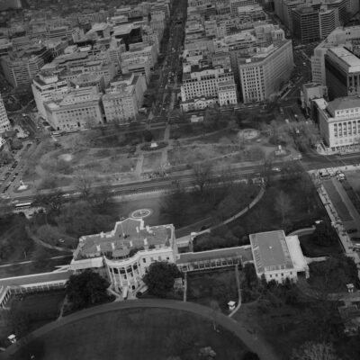 aerial view of the White House looking north - 1990