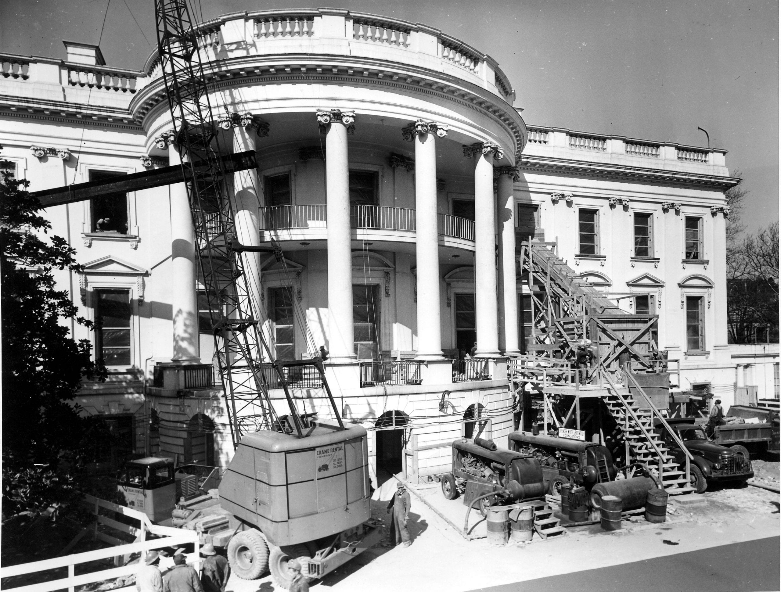 Removing Debris from the Renovation of the White House - February 27th, 1950