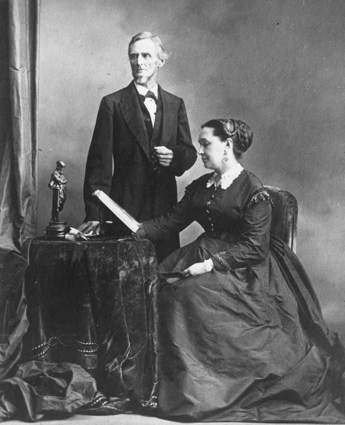 Jefferson and Varina Davis in 1869