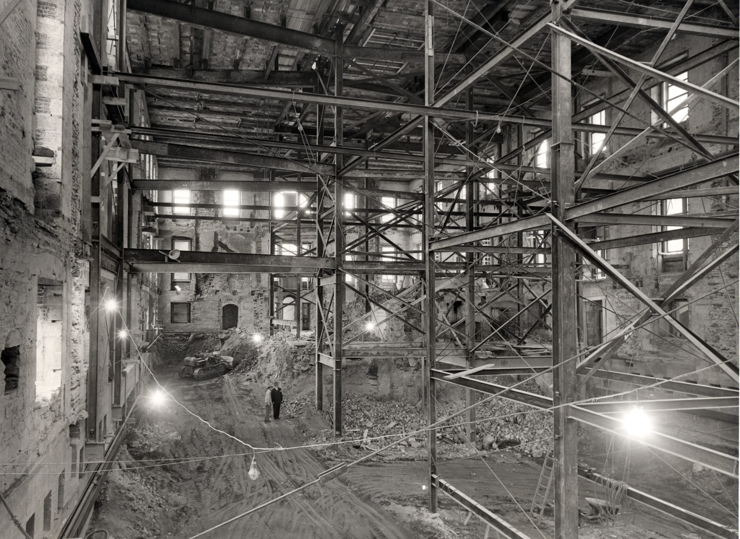 interior shell of the White House - 1950