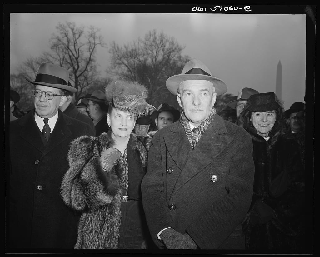 Hurban on the South Lawn of the White House for Roosevelt's 4th Inauguration