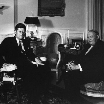 Kennedy and Erhard when JFK visited West Germany in 1962