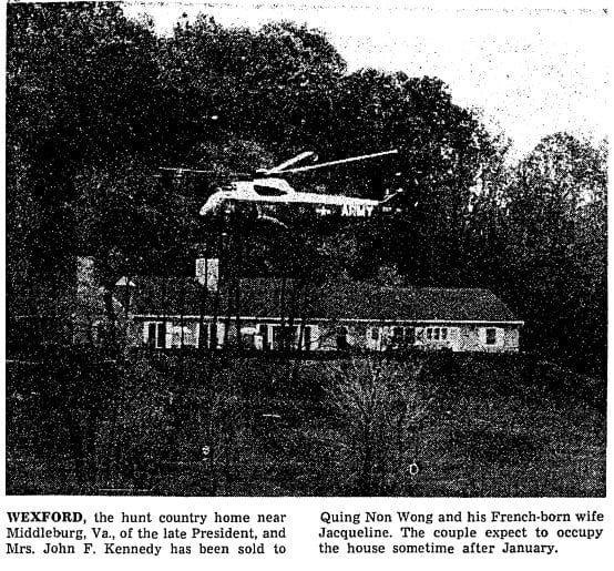 Army One hovering over the country estate