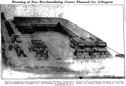 drawing of shopping center (1940)