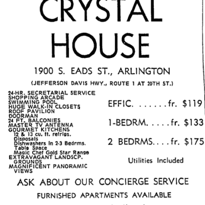 Crystal House advertisement