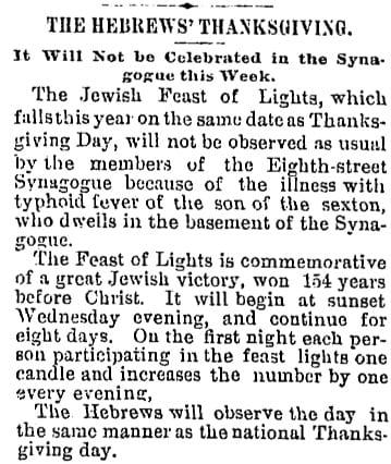 The Hebrew's Thanksgiving, 1888 - The Washington Post