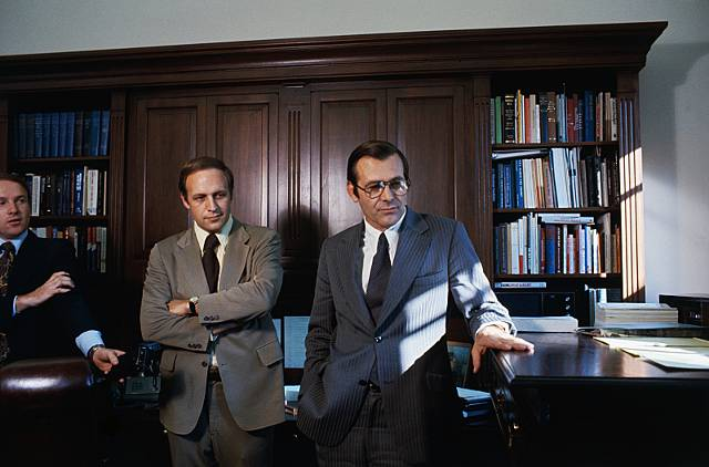 Cheney and Rumsfeld in 1975