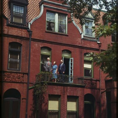 Color Photo of Rowhouse in the 1940s