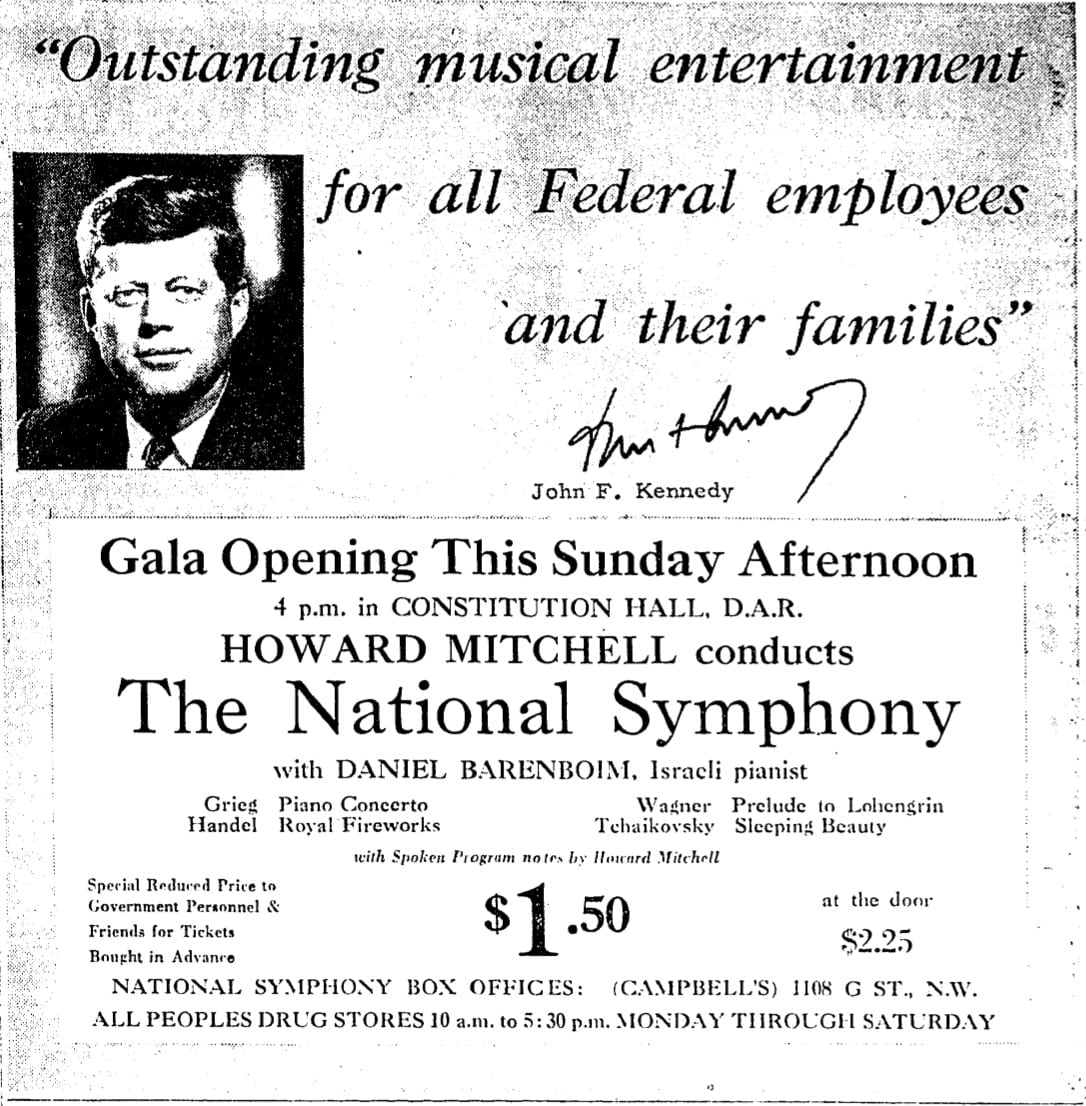 Kennedy and the National Symphony Orchestra