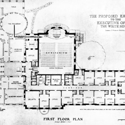 Truman's proposed West Wing expansion