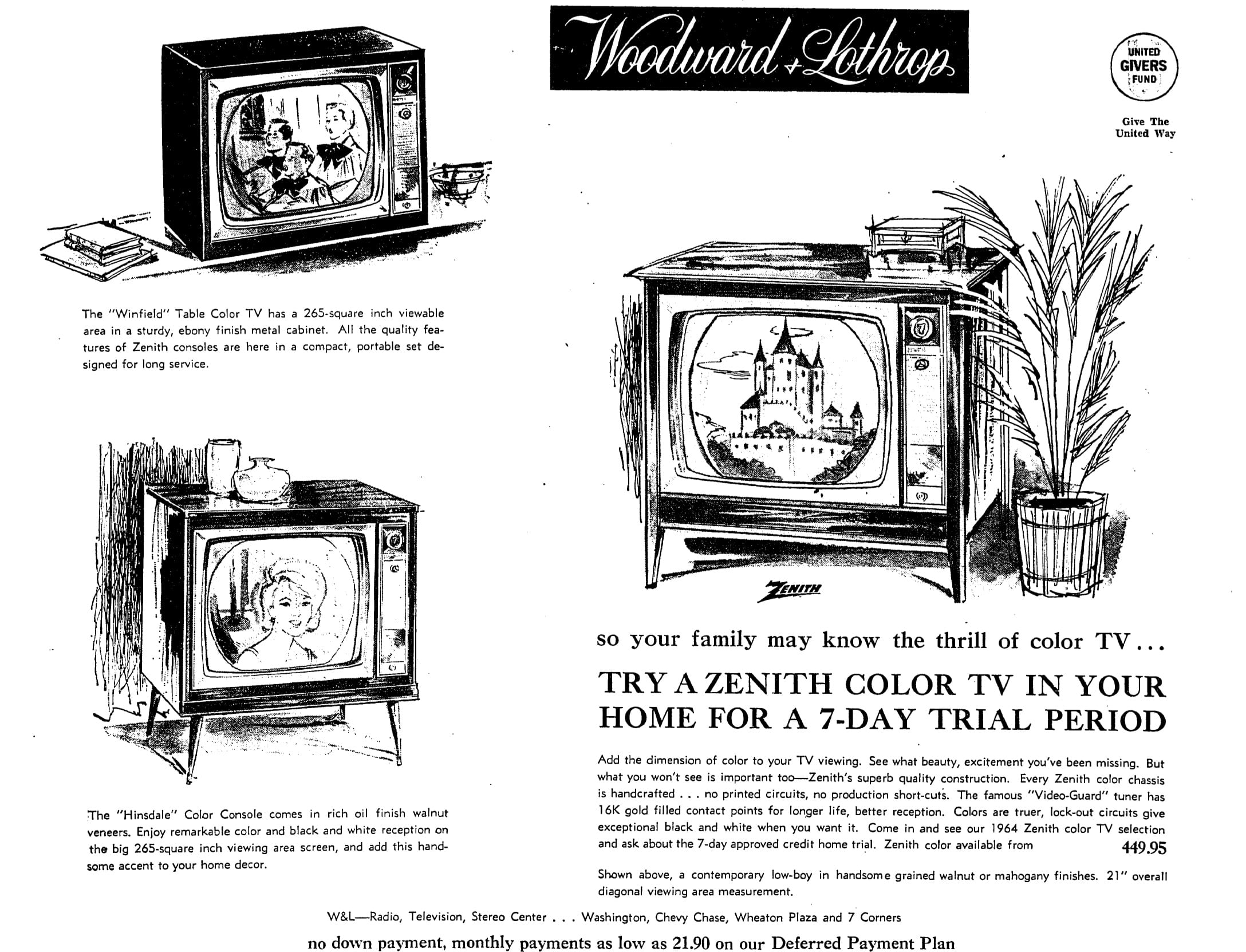 50 Years Ago: Woodward and Lothrop Advertisement