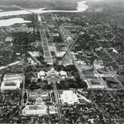 1930s Aerial View West of the National Mall