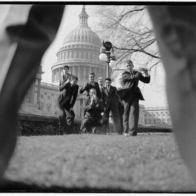 Baseball in front of the Capitol Building
