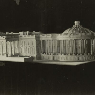 model of proposed White House changes