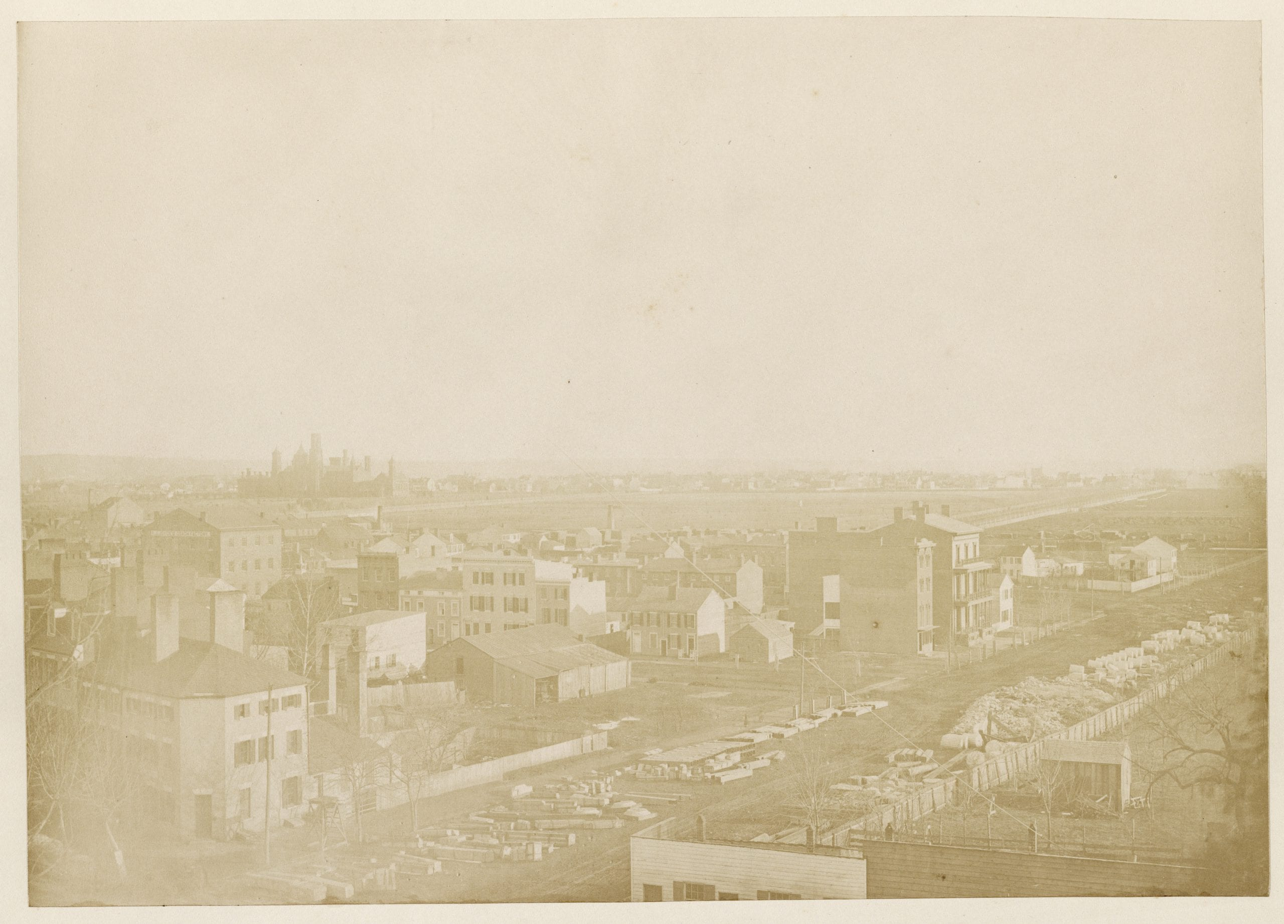 Washington, D.C., view with Smithsonian in the distance