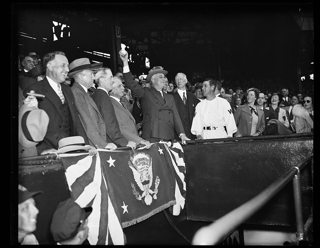 FDR opens the 1937 season at Griffith Stadium