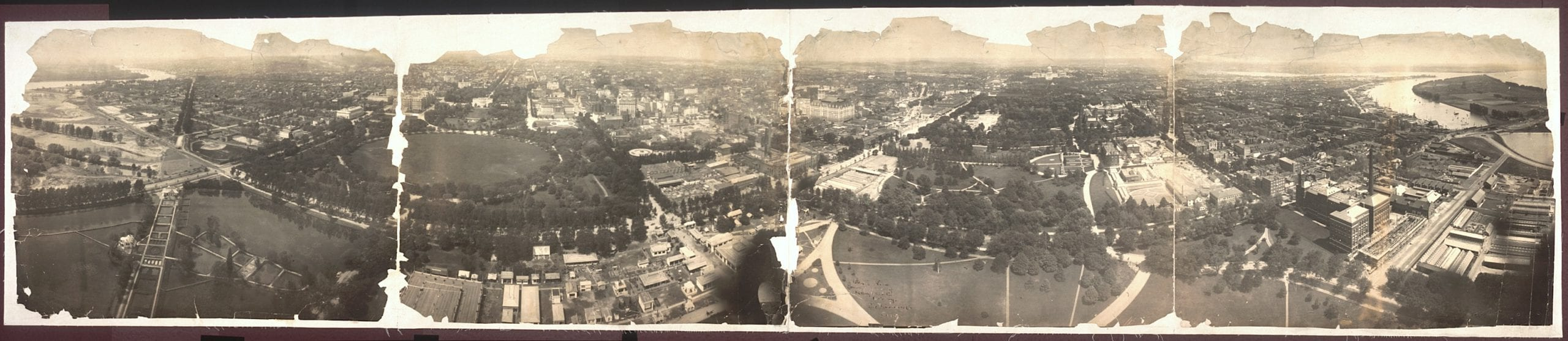 bird's-eye view of Washington in 1905