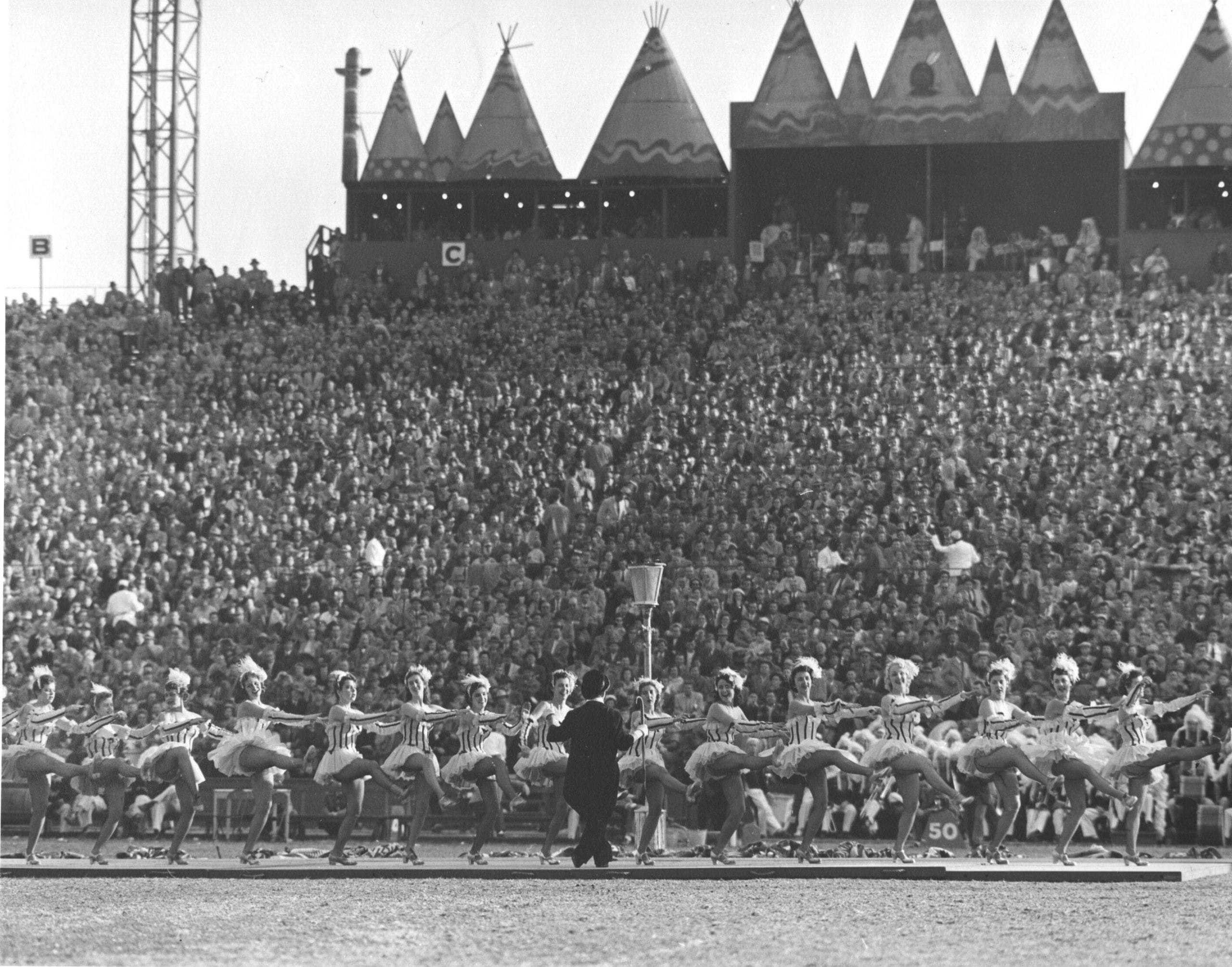 Photograph of  the  Halftime Show at a Washington Redskins Game, November 14, 1954