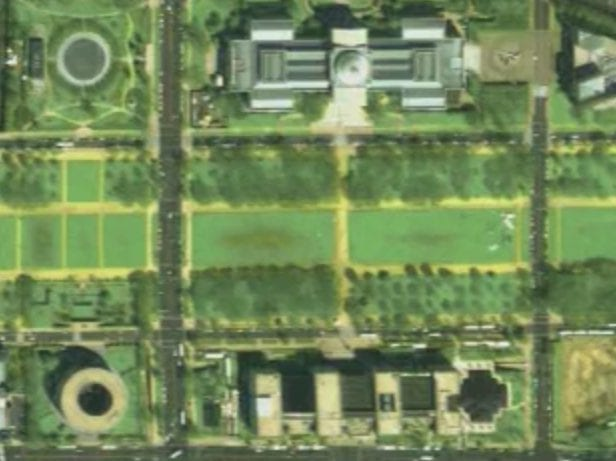 Cool Satellite View of National Mall