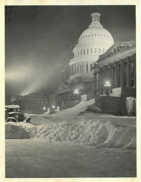 Capitol Building after an epic snowstorm