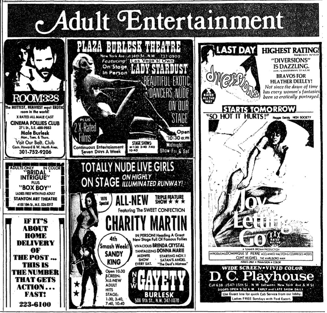 Seedy 1970s Adult Entertainment Business