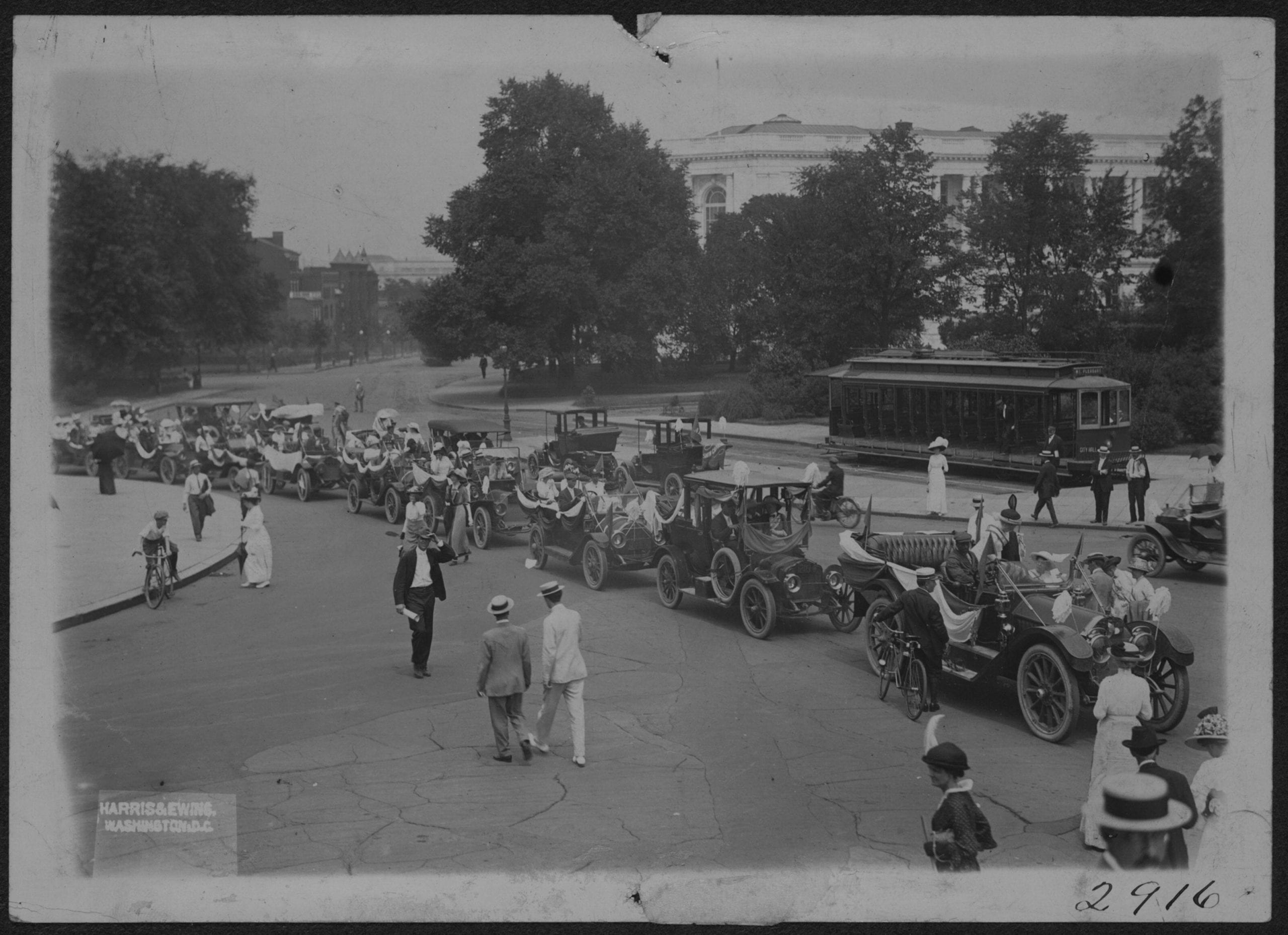 Procession Summer 1913. Delegation Coming in from Hyattsville to present petition from all parts of the U.S.