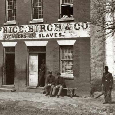 1865 Photo of Alexandria Slave Pen