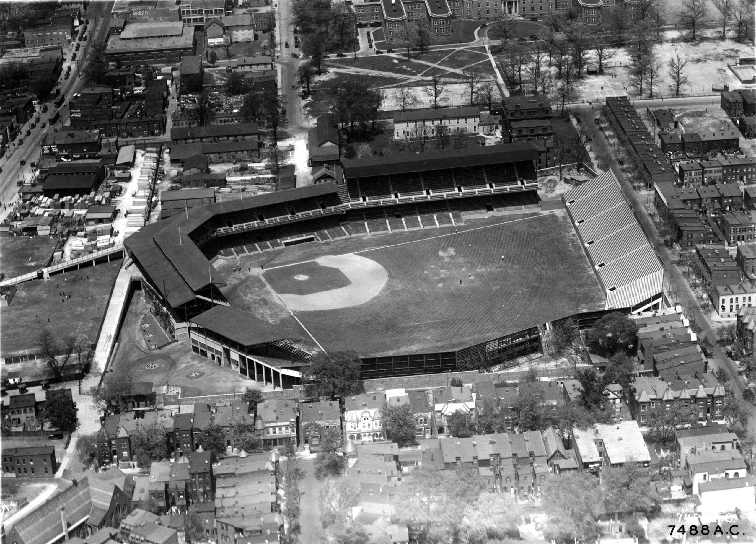 Detailed Aerial Photo of Griffith Stadium and Neighborhood