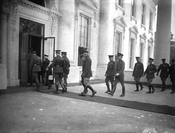 Army Officers at New Year reception, [Washington, D.C.], 1/1/25