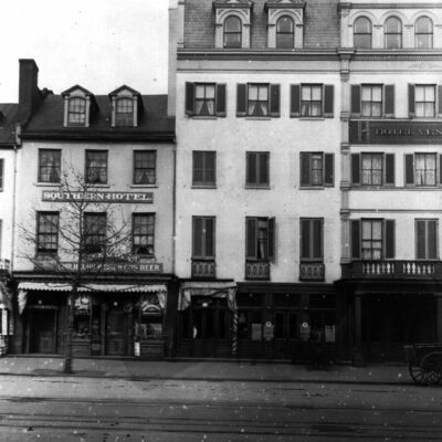 Photo of Segregated Southern Hotel on Pennsylvania Avenue