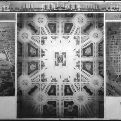 Proposed drawing for Independence Square, Washington Memorial and grounds from model. Drawing for Independence Square III