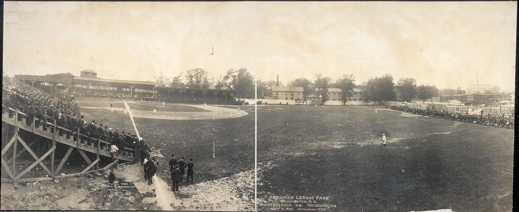 American League Park, Washington, D.C., Philadelphia vs. Washington. May 6, 1905