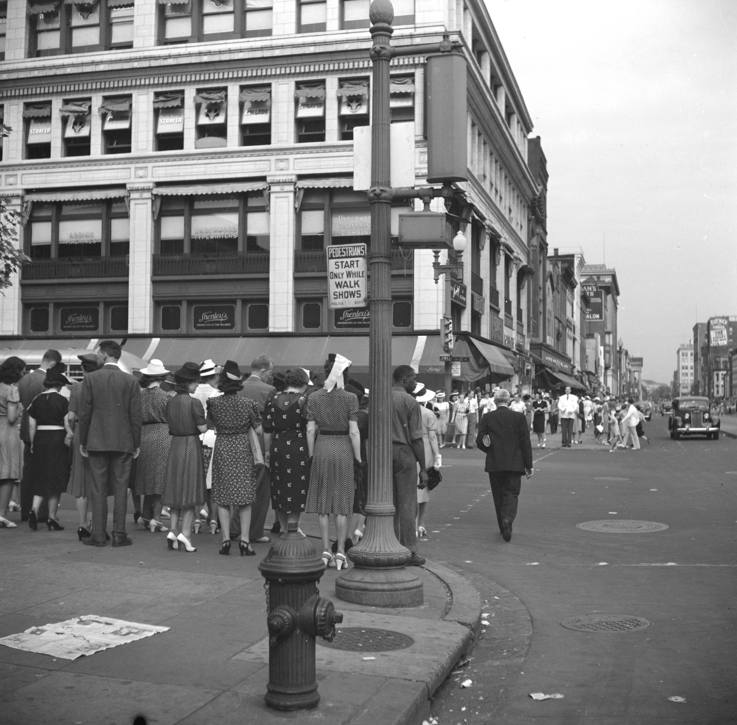 View of 13th Street in 1940s