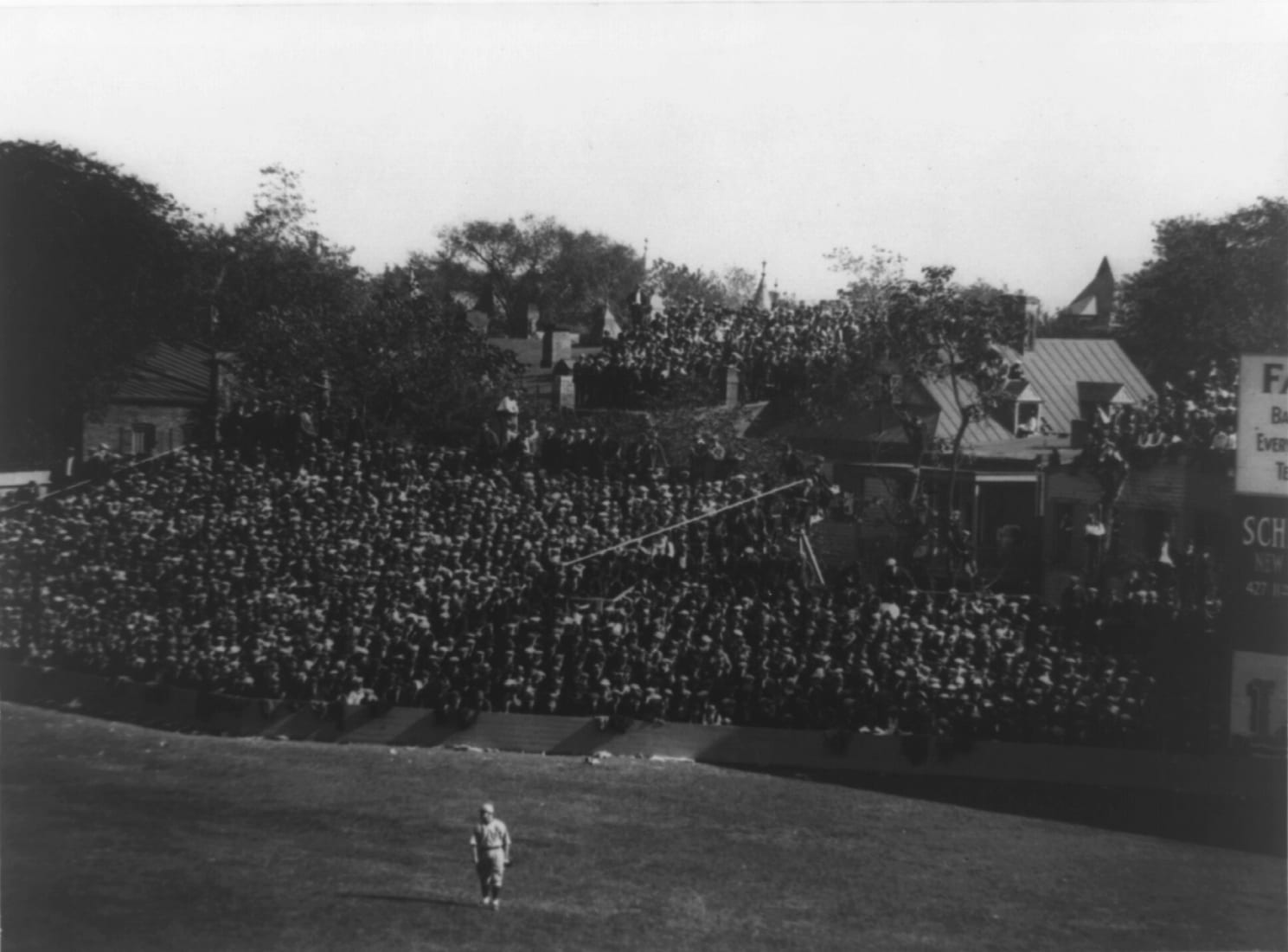 right field at Griffith Stadium between 1909 and 1932