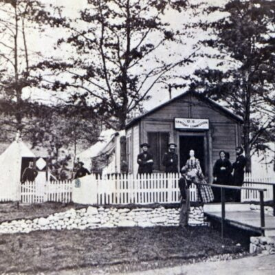 Photos and Map From Civil War Convalescent Camp